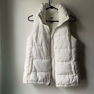 NWOT White Old Navy Vest